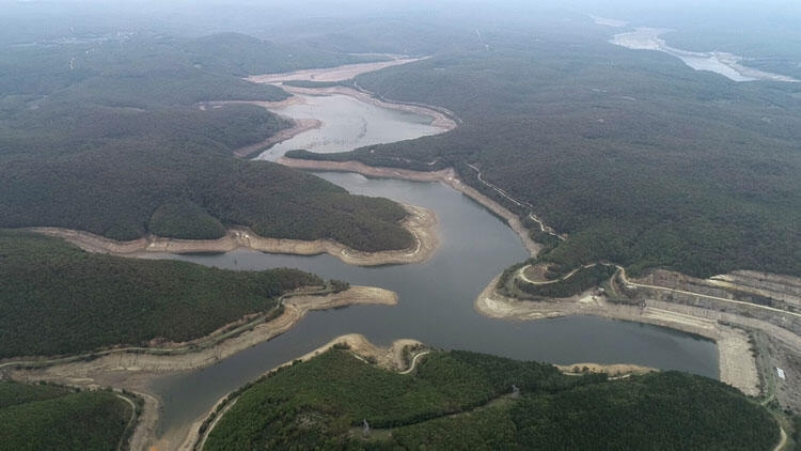 Water levels in Istanbul dams drop